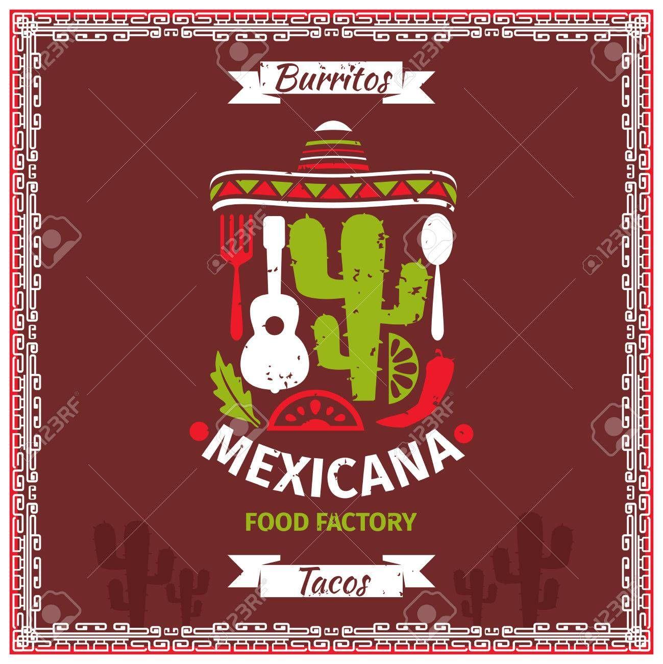 Cartel de alimentos diseño de la plantilla de vectores mexicana ...