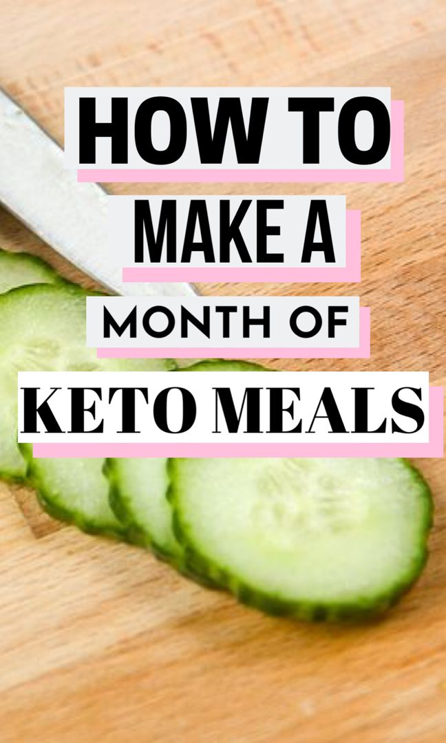Keto Meals for a Month | Olivia Wyles | Keto Lifestyle Guide
