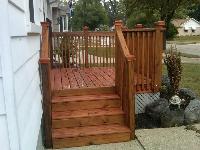 Cabot Pacific Redwood Front Porch Deck New Deck