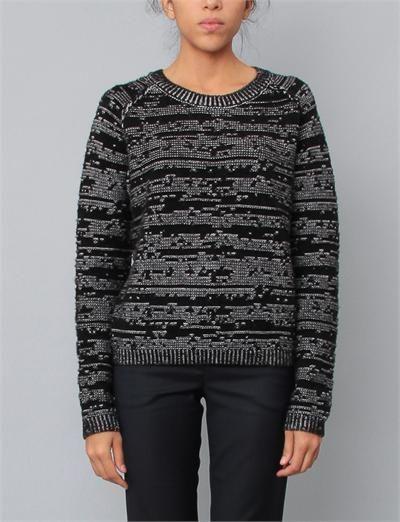 Christian Wijnants Jacquard Sweater- Black/White