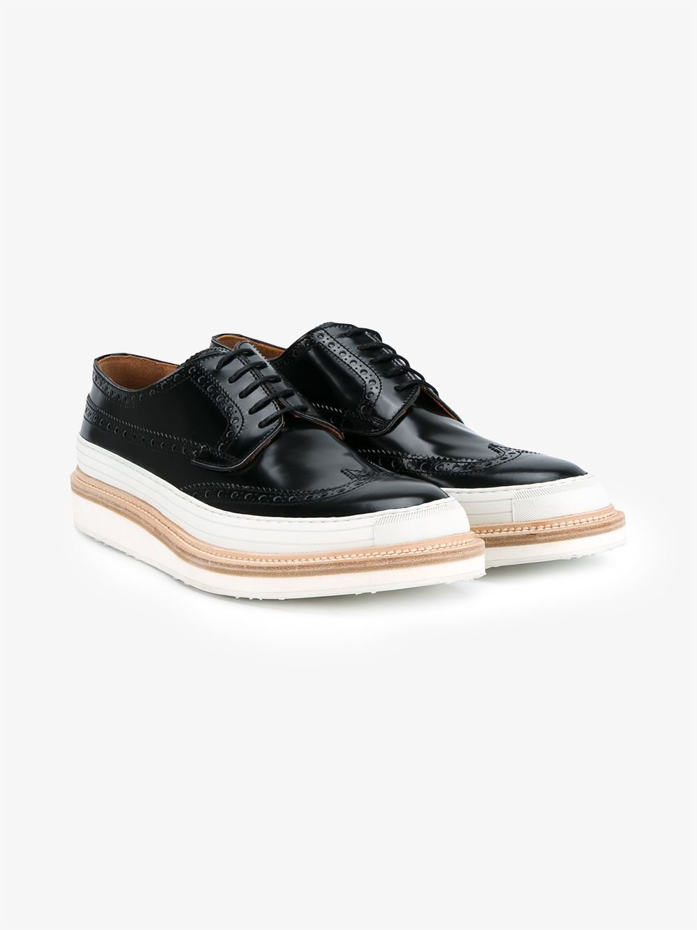 WEBERHODELFEDER Hartford Leather Wedge Shoes