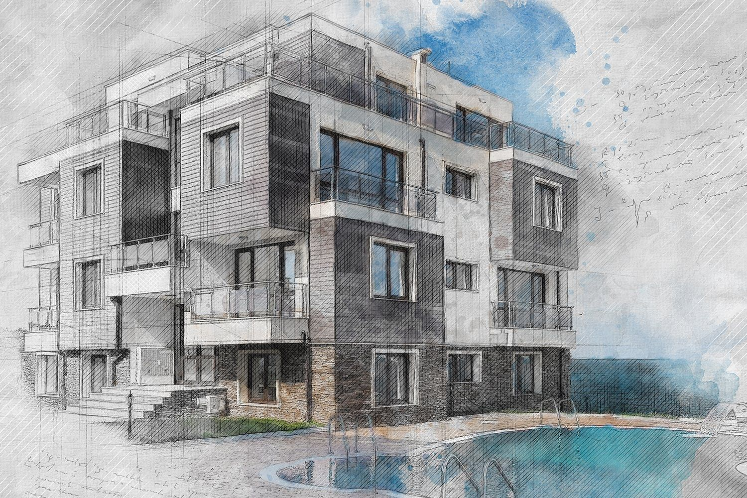 Archi Sketch Photoshop Action By Eugene Design On Sketch