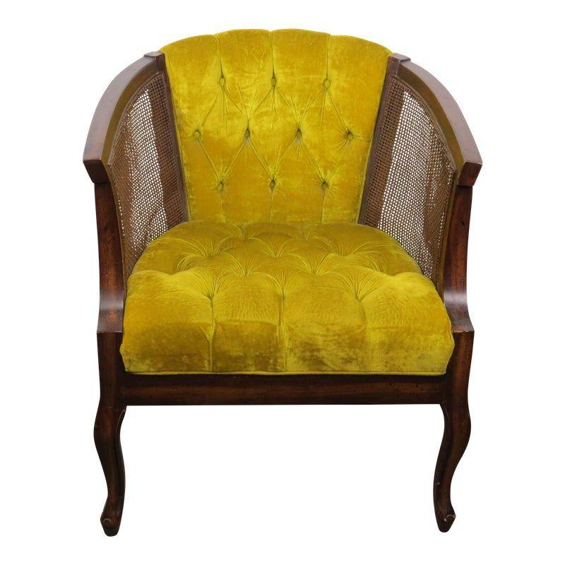 velvet side chair vintage