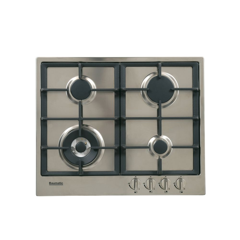 Buy Baumatic Vantage Bhg610 5ss 4 Burner Gas Hob Bhg610 5ss Stainless Steel Marks Electrical Hobs Gas Hob Stainless