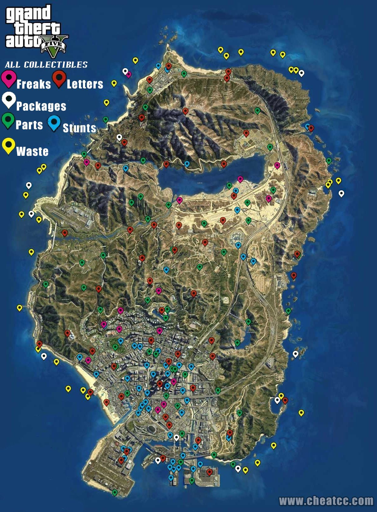 Gat V map Grand Theft Auto V Pinterest