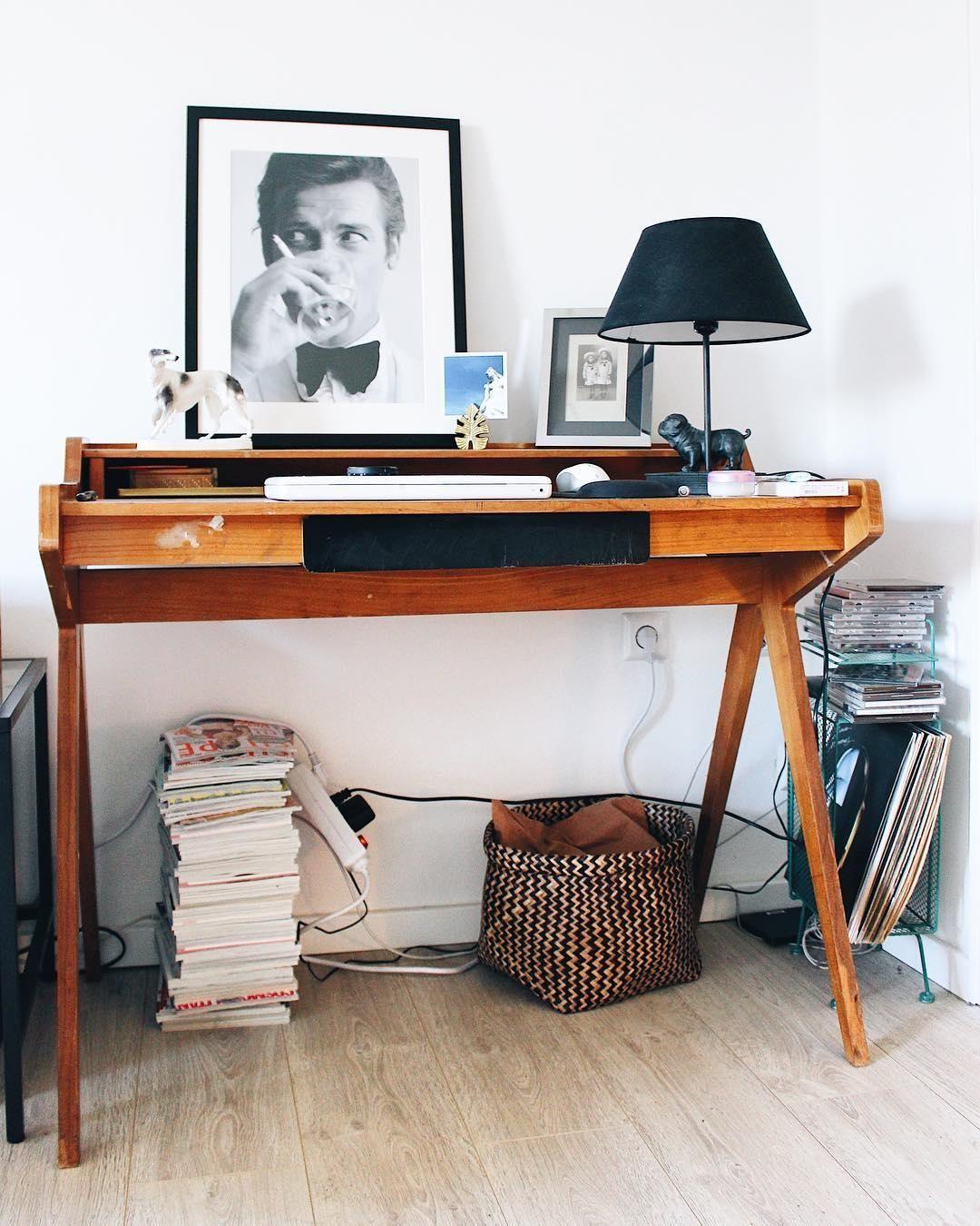 Vintage Vibes! Ein Retro-Schreibtisch + stylische Deko-Akzente, wie ...