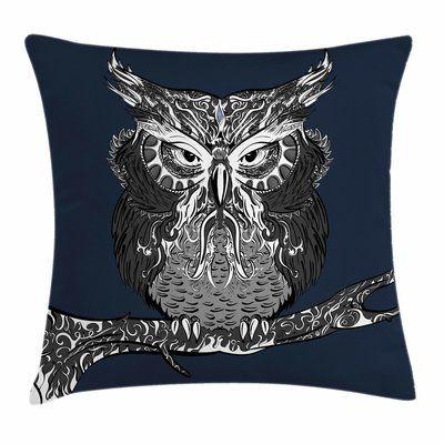 vintage home accents #home #accents #homeaccents East Urban Home Owl Vintage Ornaments Square Cushion Pillow Cover Size: 20quot; x 20quot;