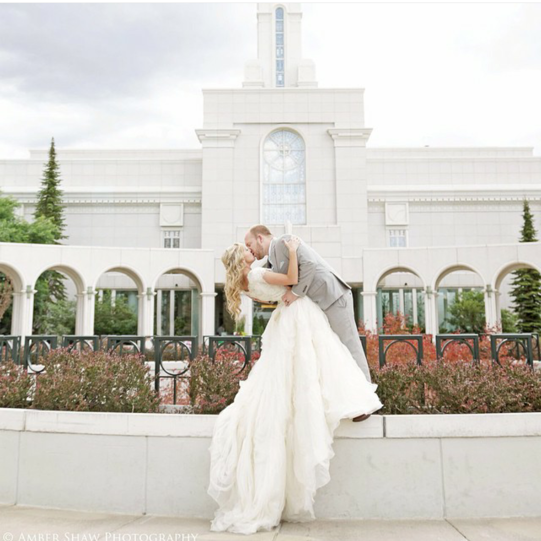 Modest Wedding Dress With Cap Sleeves And A Full Skirt