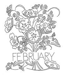 Vintage Flower-of-the-Month Transfer by Q is for Quilter