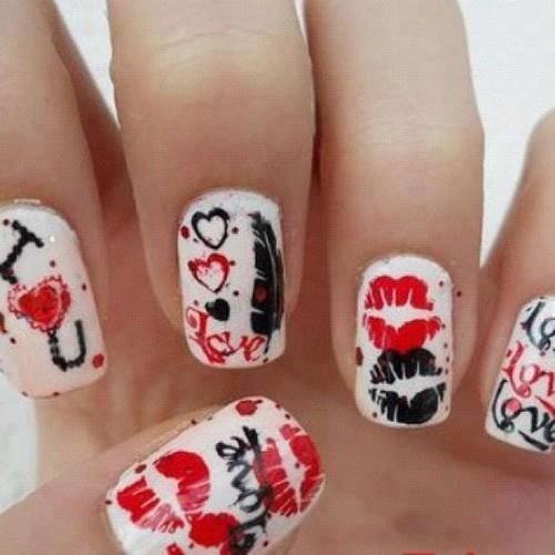 Más Uñas Decoradas Para Día De San Valentín Nails Valentines Day