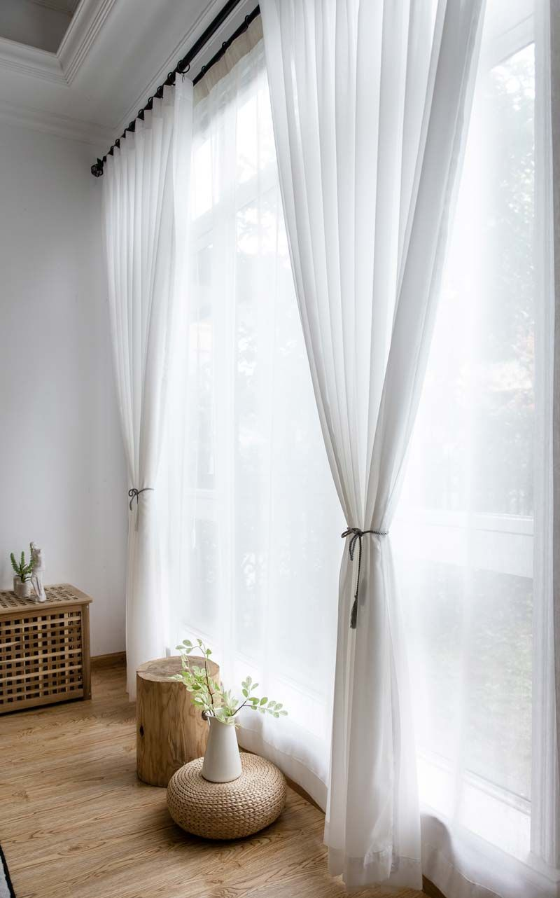 White Chiffon Sheer Curtain Modern Breathable Sheer Curtain Living Room Bedroom Nursery Fabric In 2020 Sheers Curtains Living Room Curtains Living Room Modern Curtains