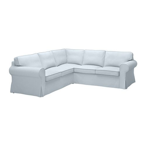 EKTORP Sectional, 4 Seat Corner, Nordvalla Light Blue Nordvalla Light Blue