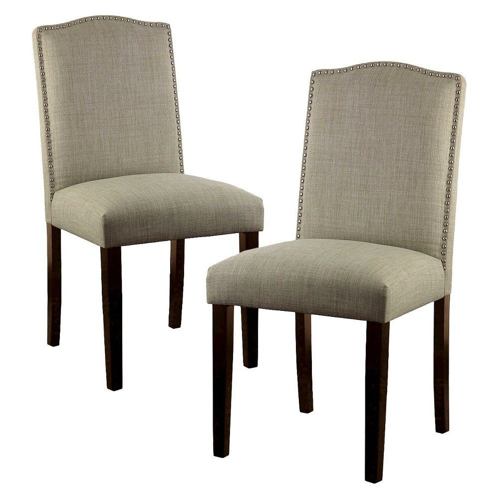 Swell Camelot Nailhead Dining Chair Toast Set Of 2 Threshold Andrewgaddart Wooden Chair Designs For Living Room Andrewgaddartcom