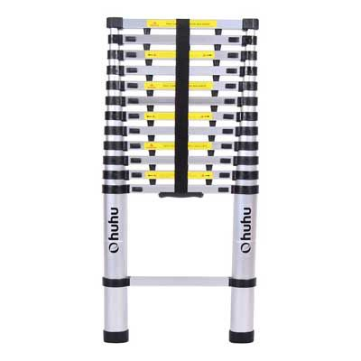 12 5ft En131 Telescopic Extension Aluminum Ladder Extendable Telescoping Ladder With Spring Loaded Locking Mech Telescopic Ladder Best Ladder Aluminium Ladder