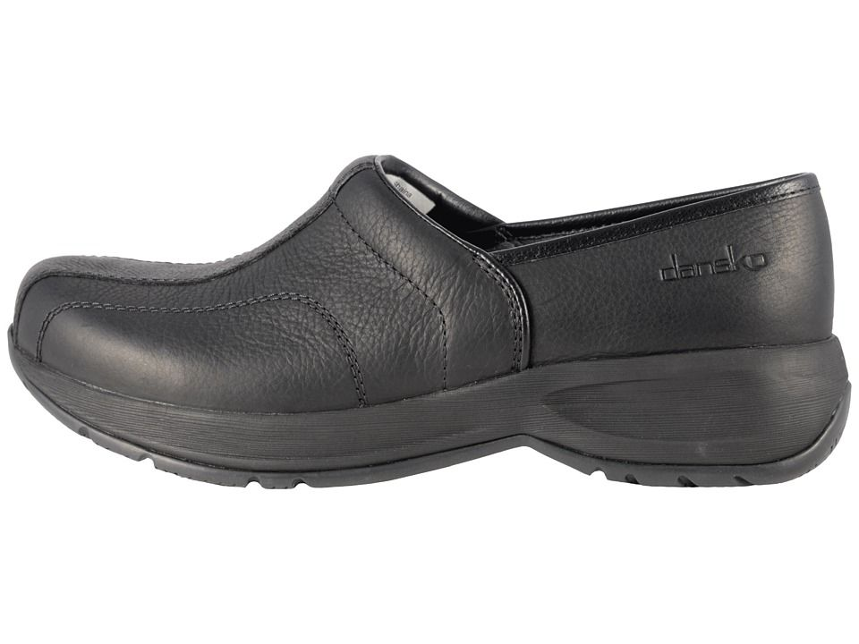 cf1503d4331 Dansko Shaina Women s Clog Shoes Black Tumbled Pull Up