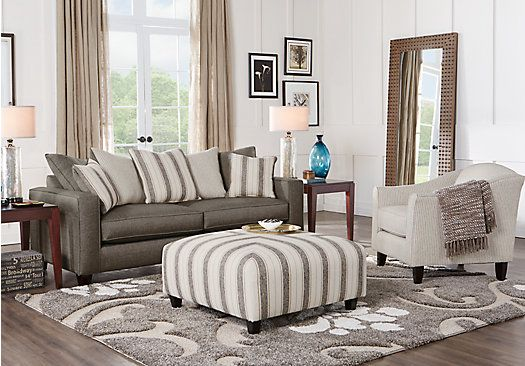 Living Room Sets Rooms To Go Parker Place Gray 3 Pc Living