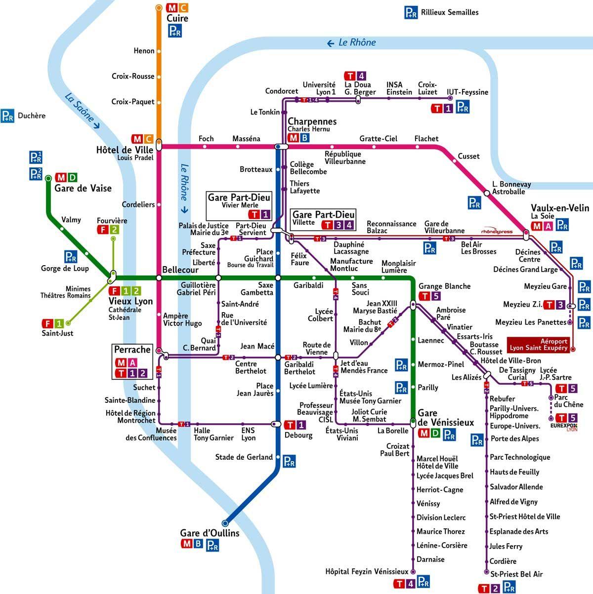 Plan Lignes Fortes Reseau Tcl Lyon 2016 Plan Lines Strong Network Tcl Lyon 2016 Tcl Fr Et And Sytral Fr Visiter Lyon Ville De Lyon Hotel De Ville