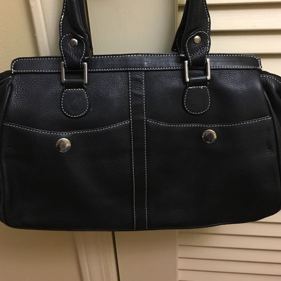 31cf33687718 Black leather Tignanello bag Black pebbled leather Tignanello bag. EUC. 2  slots in front
