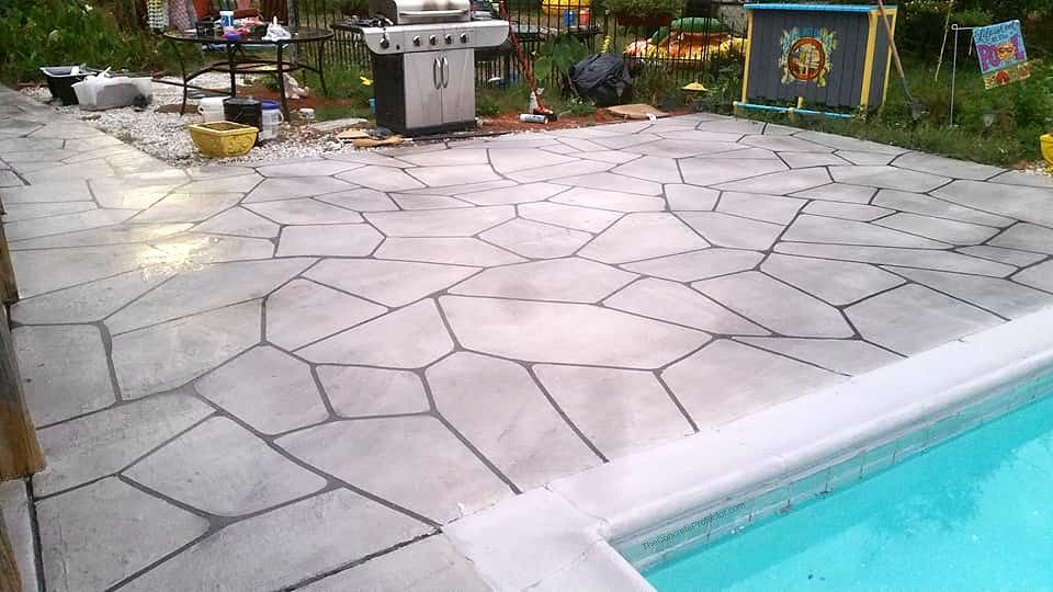 If You Are Searching For Pool Deck Contractors Near Me Who Is Reliable Honest Qualified Contractor And Who Ha Concrete Coatings Pool Deck Flagstone Pool Decks