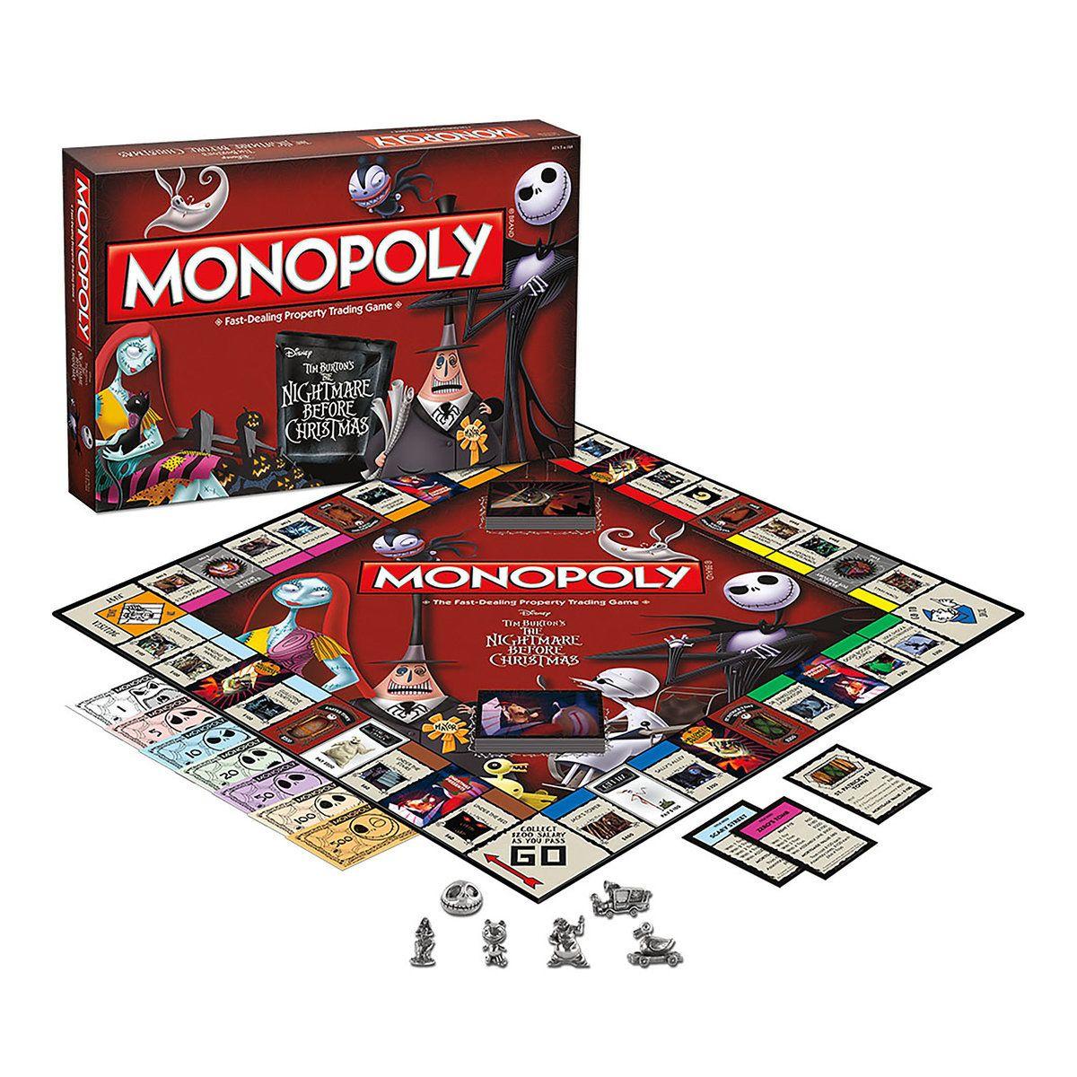 Disney Tim Burton\'s The Nightmare Before Christmas Monopoly Game ...
