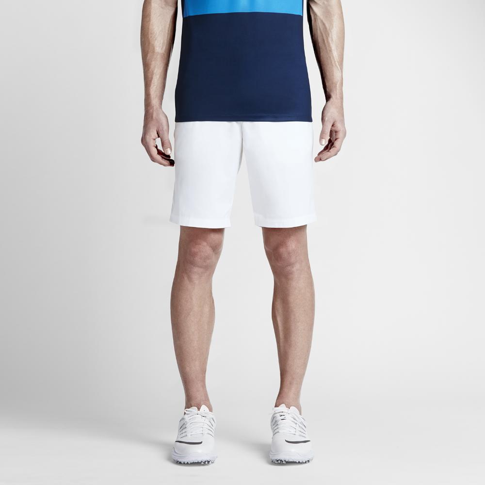 meet 90141 a0054 Nike Modern Tech Woven Mens Golf Shorts Size 40 (White) - Clearance Sale