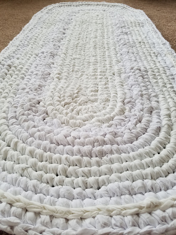 White Rugs White Carpet 55 White Handmade Rugs White Crocheted Rugs White Rag Rug White Oval Rugs White Kitchens White Kitchen Rug White Rug White Kitchen Rugs Handmade Rugs Handmade rag rugs for sale