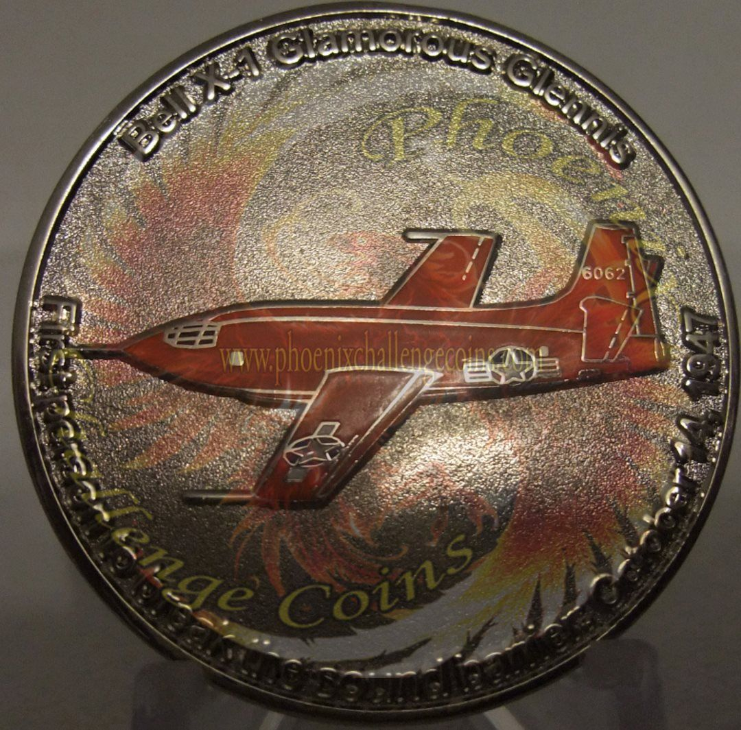 Air Force coin Chuck Yeager back side custom challenge
