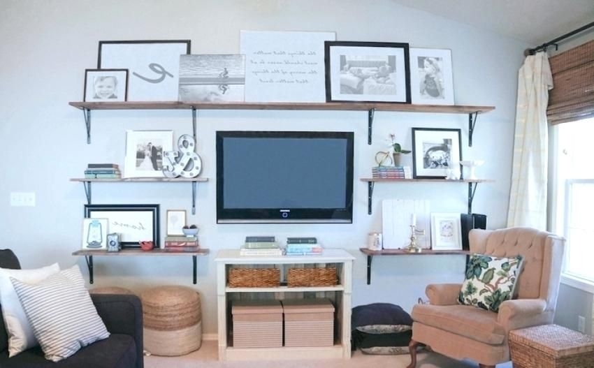 Shelves Around Tv Stands For Flat Screens Ikea Floating Wall Ideas
