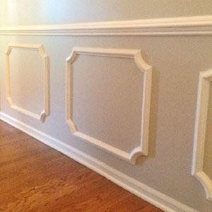 20 Inch W X 20 Inch H X 1/2 Inch P Ashford Molded Scalloped Wainscot Wall  Panel