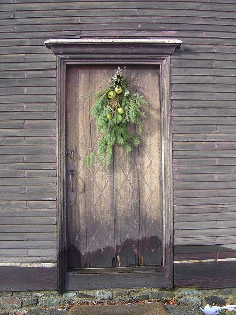 Christmas Doorway, Portsmouth, New Hampshire