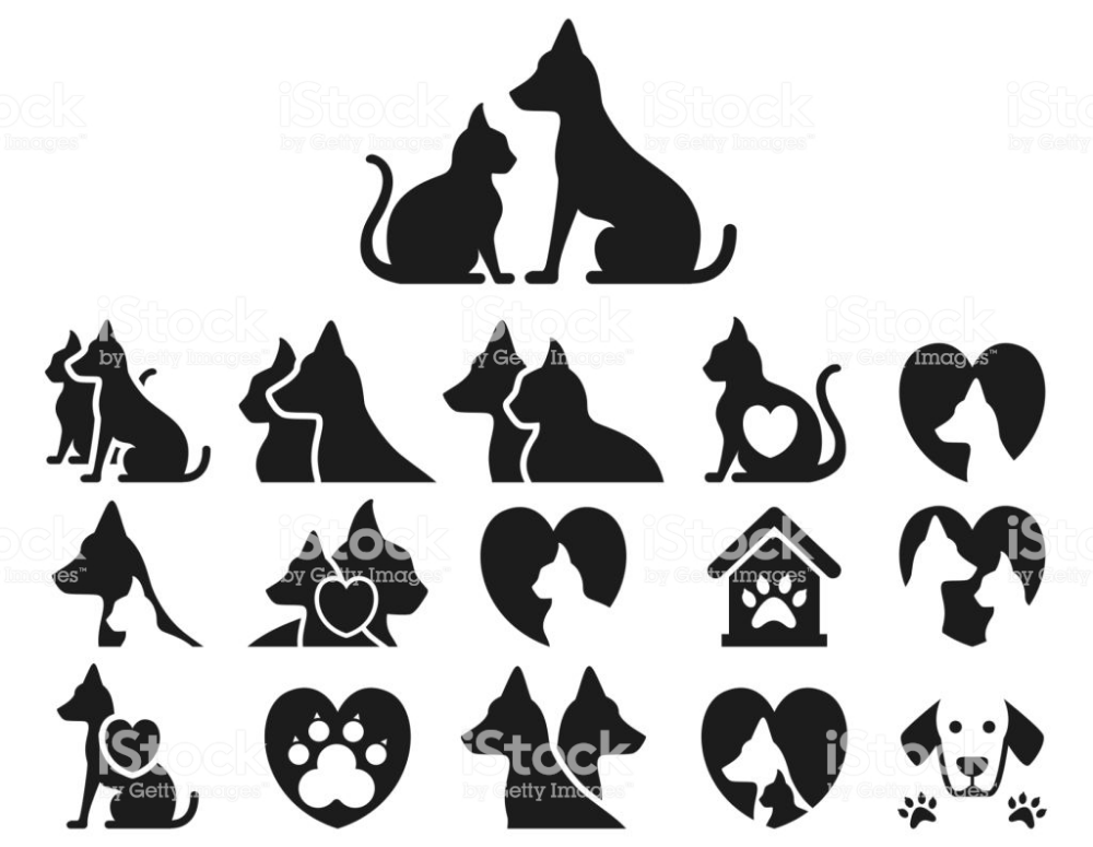 Cat And Dog Icon Set Vector Illustration In 2020 Dog Icon Animal Icon Dog Illustration