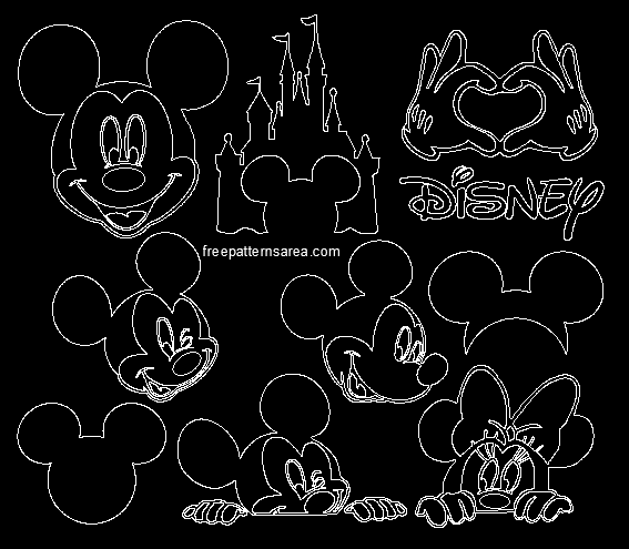 Mickey Mouse Silhouette Vector Images Freepatternsarea
