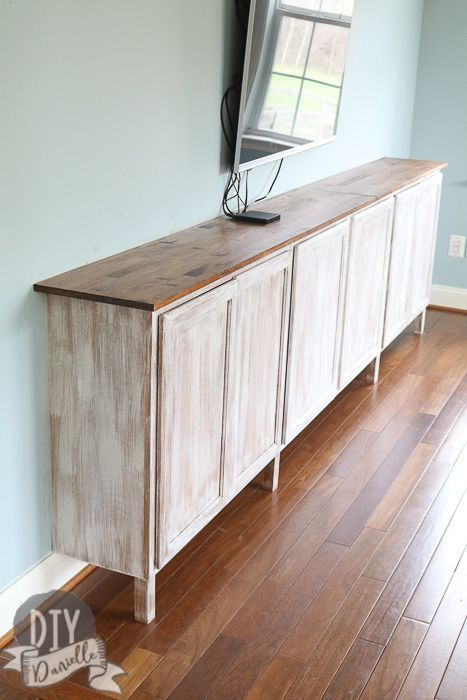 Photo of Easy Living Room Storage Cabinets – DIY Danielle®