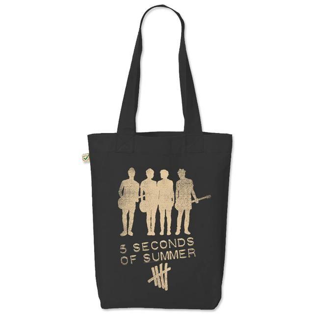 5621ca07722 Check out 5SOS  Silhouette Black Tote Bag on  Merchbar.