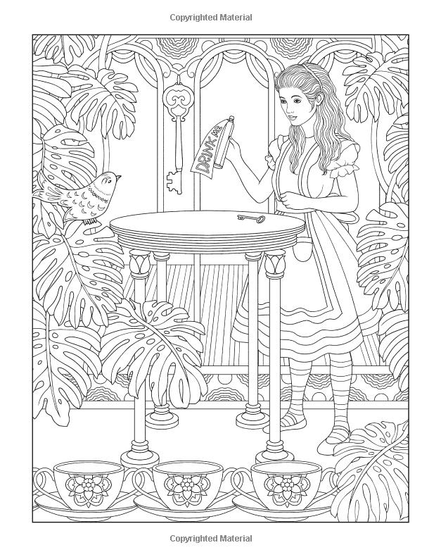 Amazon Creative Haven Alice In Wonderland Designs Coloring Book Adult
