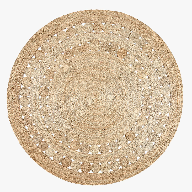 Dandelion Hemp Round Rug Dear Keaton Natural Jute Rug Circular Rugs Woven Rug