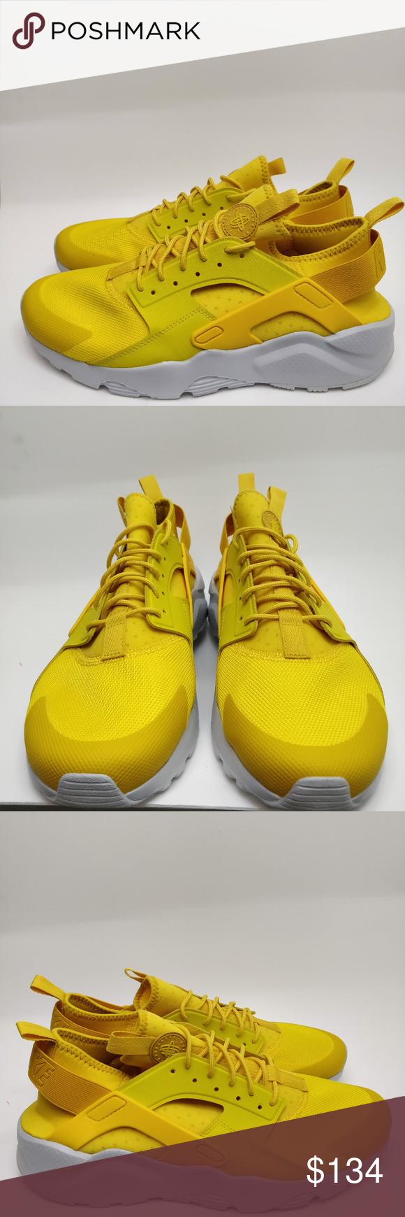 9e5480cd04a7 Nike Air Men Huarache Run Ultra Mineral Yellow Run Nike Air Men Huarache  Run Ultra Mineral Yellow Running Size 12 819685-700 Nike Shoes Sneakers