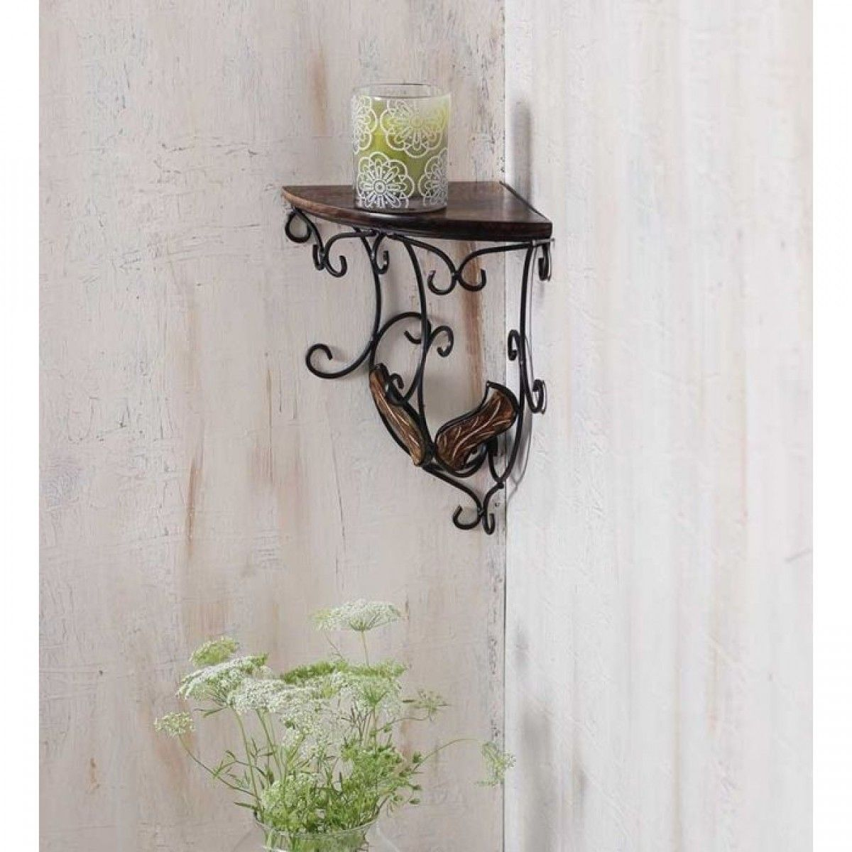 Onlineshoppee Beautiful Wooden Decorative Corner Wall Hanging Bracket  Shelf/selves For Living Room/Bed Room Decoration   Wall Shelves   Home Decor    Home U0026 ...