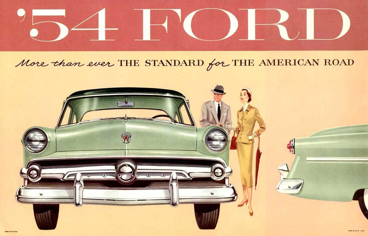 Viewliner Ltd.: The 1954 Ford Cars | Advertising | Pinterest ...