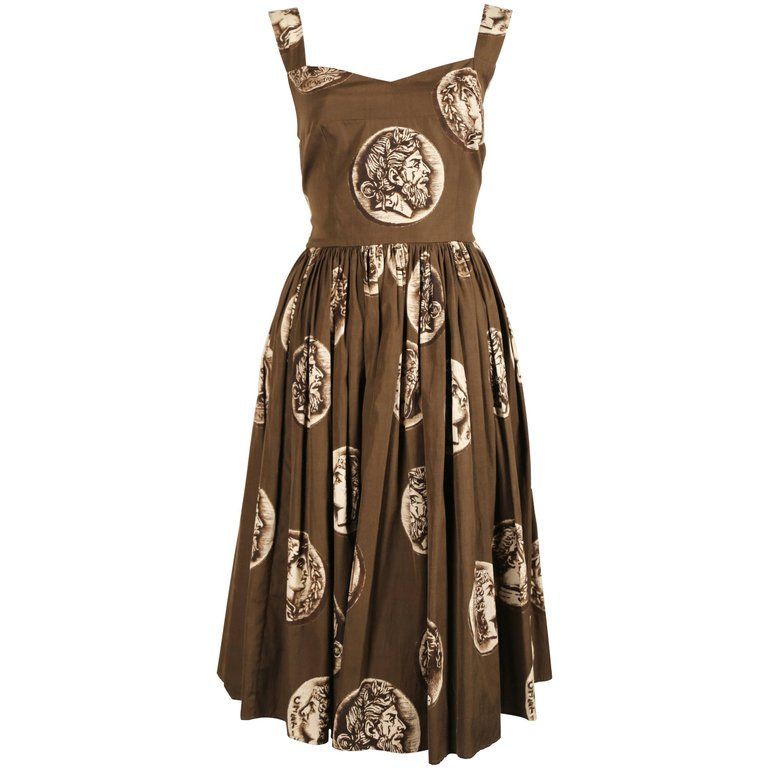 986097c1668 Dolce   Gabbana Roman Coin Printed Cotton Day Dress