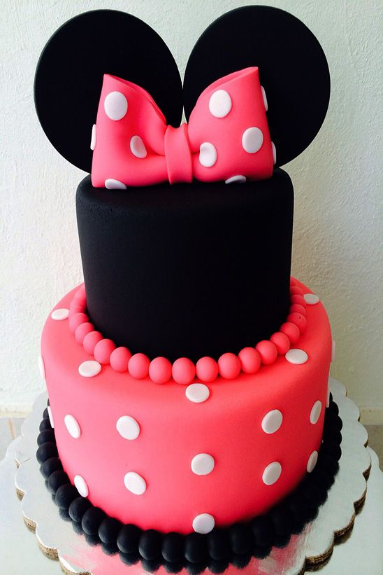 Remarkable Minnie Minnie Mouse Party Ideas In 2019 Minnie Mouse Cake Funny Birthday Cards Online Overcheapnameinfo