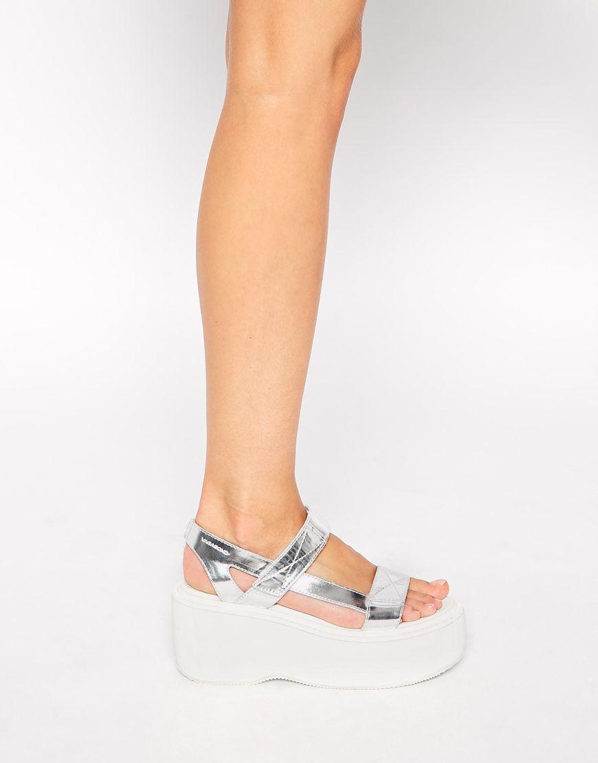 vagabond alexis metallic silver flatform sandals | w i s h l i s t
