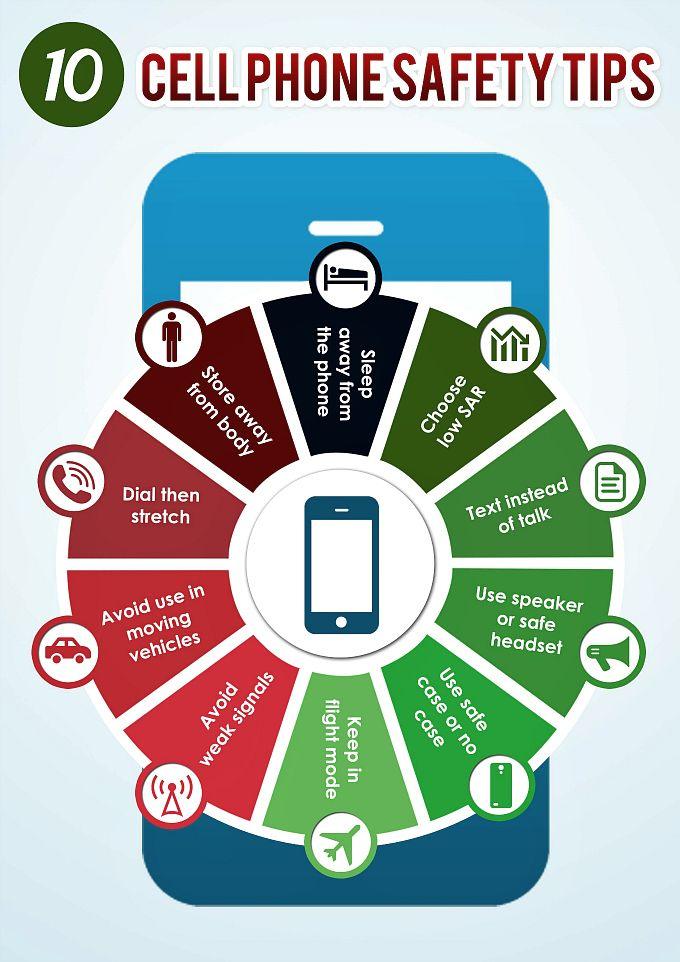 10 Cell Phone Safety Tips   Cell phone safety, Cell phone ...