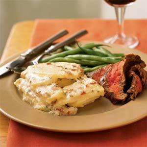 These will do for Easter!  Asiago, Potato, and Bacon Gratin   MyRecipes.com