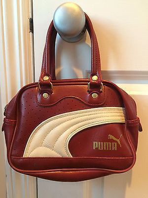 f3a8e31d27  Vintage puma bag mini red white  small grip handle sports  retro wavey 90 s