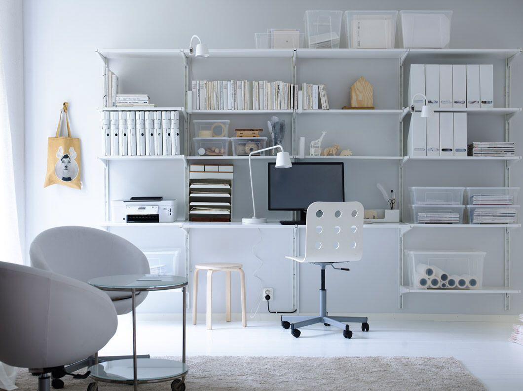 Étagères ikea algot crémaillère/tablettes, blanc 244 € | interior