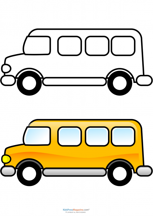 Match Up Coloring Pages School Bus School buses School and Craft