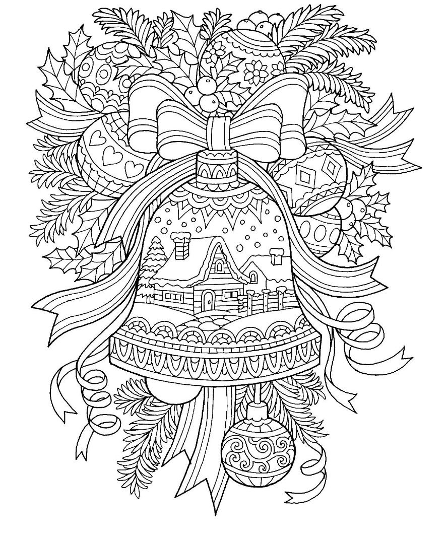 Christmas Bell Coloring Page Christmas Coloring Sheets Easter Coloring Pages Coloring Pages