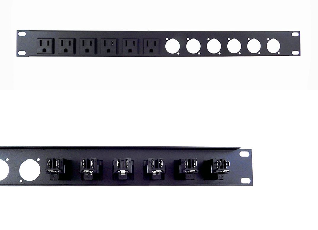 Racks Chassis And Patch Panels 51197 1u Procraft 16 Ga Formed Aluminum Rack Panel Pre Punched For 6 D With 6 Ac Buy It No Patch Panels Paneling Aluminum