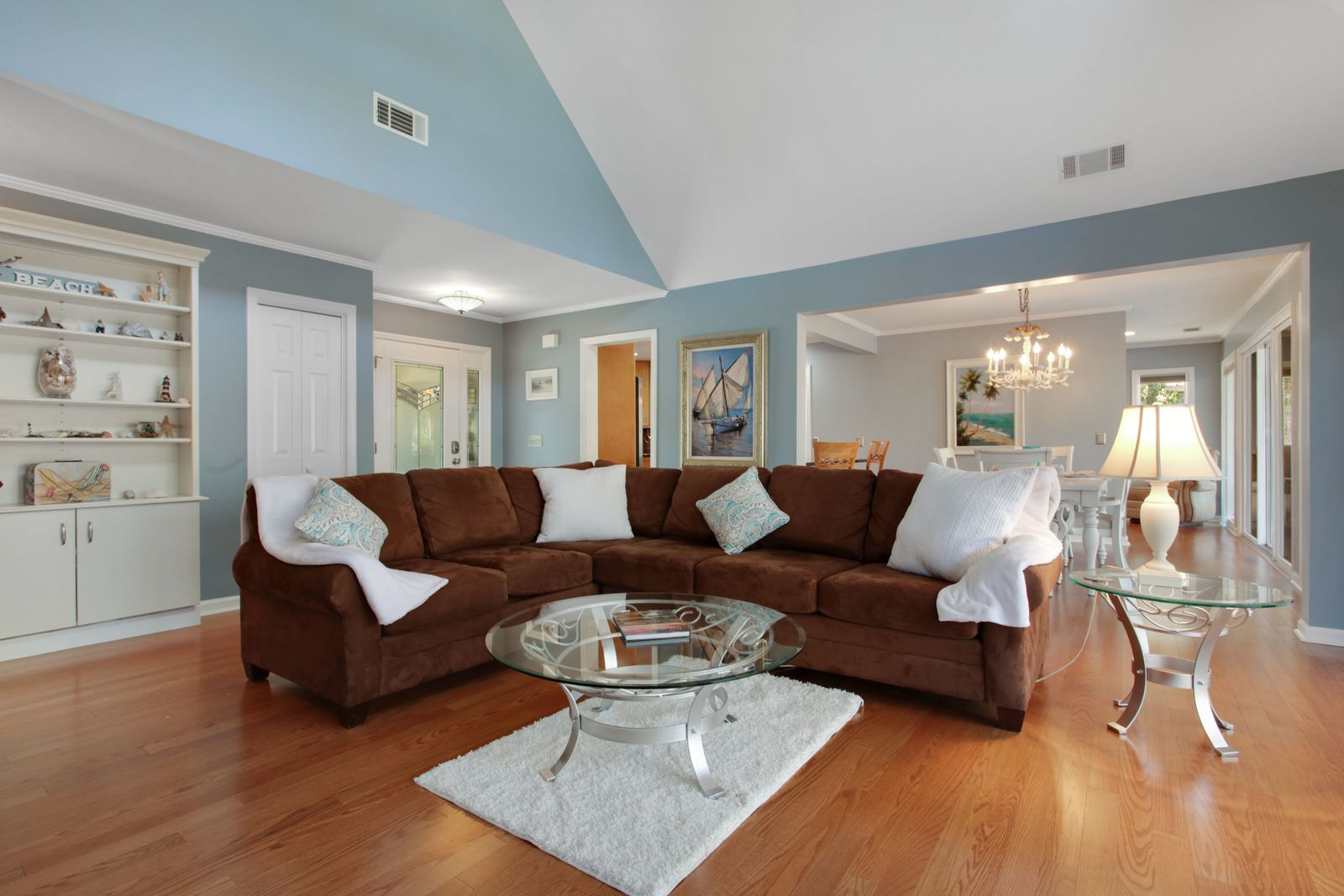 Newly Painted Home For Sale Near The Beach On Hilton Head Island Built In Seating Home Smooth Ceiling